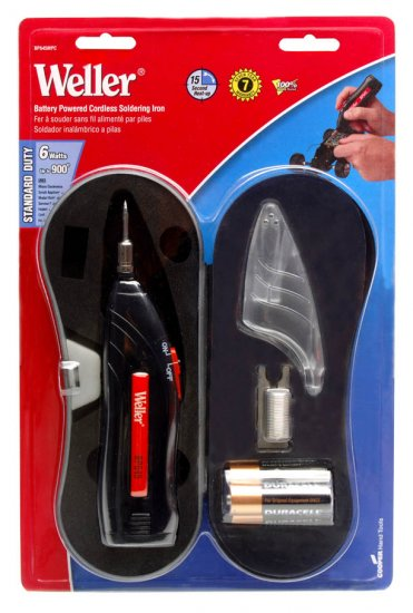 Battery powered cordless home soldering iron kit (storage case & batteries included!)