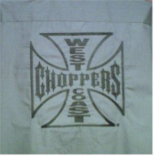 Brand New Men's Authentic Jesse James West Coast Choppers Work Wear Short Sleeved Shirt XL