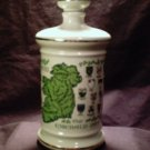 Stitzel Weller Genuine Porcelain Irish Whisky Decanter with cork cap (1969)