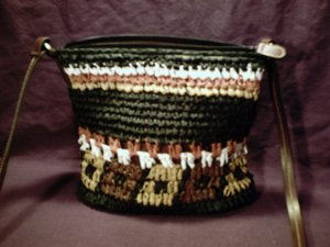 Cool woven paper purse NWOT