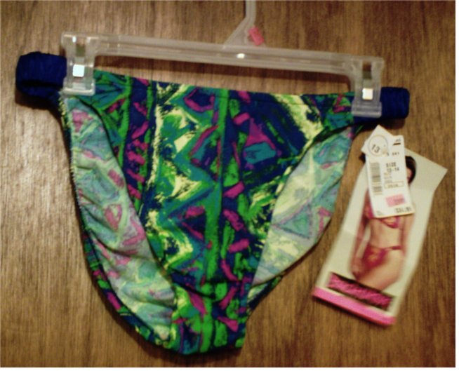NWT Beach Native Bikini Bottom in Green Blue Purple Yellow