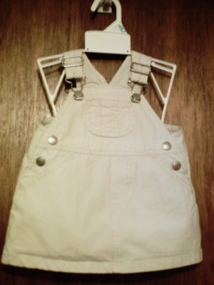 NWOT Old Navy Baby Khaki Cargo jumper dress 3-6 months