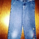 EUC Circo brand girls' denim capris with embroidered hearts size 8