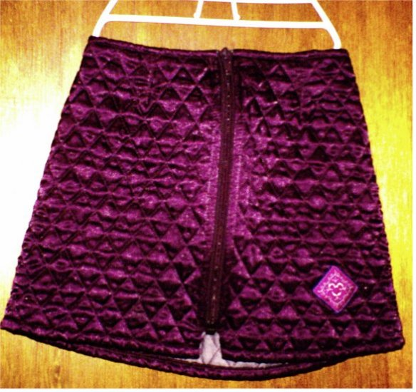EUC Girls' Disney Store purple plush skirt with Mickey Mouse patch size 4T