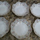 Meiji-Era Nippon Star-Shaped Relish Dishes - 6 TOTAL