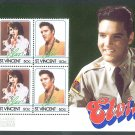 ST.VINCENT - 1985 4 ELVIS PRESLEY M/S - J0022