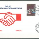 MALTA - 1979 END OF MILITARY FACILITIES FDC - J0095