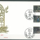 MALTA - 1977 CHRISTMAS FDC - J0102