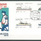 MALTA - 1987 SHIPS FDC - J0103