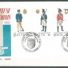 MALTA - 1988 UNIFORMS FDC - J0108