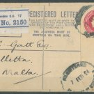 GREAT BRITAIN - 1924 REGISTERED LETTER - J0139