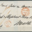 GREAT BRITAIN - 1858 LETTER TO MALTA - J0158