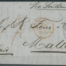 GREAT BRITAIN - 1854 LETTER TO MALTA - J0159