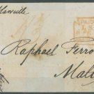 GREAT BRITAIN - 1853 LETTER TO MALTA - J0160