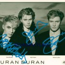 DURAN DURAN GROUP BAND SIGNED AUTOGRAPHED RP PHOTO BY3