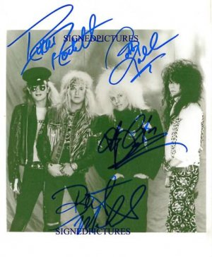 POISON GROUP BAND SIGNED AUTOGRAPHED RP PHOTO ALL 4