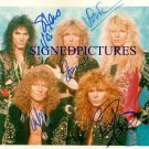 WHITESNAKE BAND 5 SIGNED AUTOGRAPHED RP PHOTO STEVE VAI