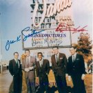 THE RAT PACK AUTOGRAPHED RP PHOTO FRANK SINATRA DEAN MARTIN AND SAMMY DAVIS JR