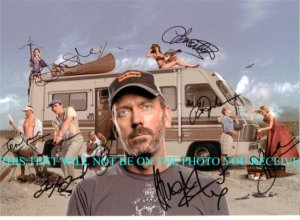 HOUSE MD CAST SIGNED AUTOGRAPHED 8x10 PHOTO by 8 HUGH LAURIE OLIVIA WILDE +