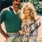 TOM SELLECK AND MORGAN FAIRCHILD SIGNED RP PHOTO MAGNUM