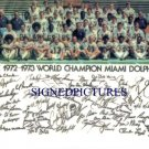 MIAMI DOLPHINS TEAM 1972 AUTOGRAPHED RP PHOTO JOE ROBBIE GRIESE KIICK CSONKA +