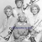 THE GOLDEN GIRLS CAST SIGNED AUTOGRAPHED 8x10 RP PHOTO BEA ARTHUR BETTY WHITE ESTELLE RUE + ALL 4