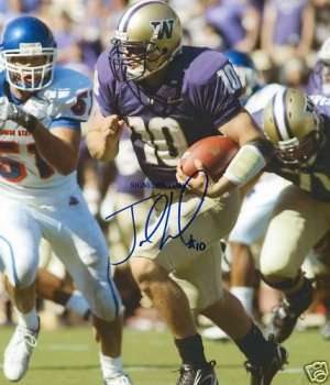 JAKE LOCKER SIGNED AUTOGRAPHED RP PHOTO WASHINGTON