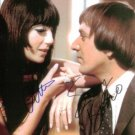 SONNY BONO AND CHER SIGNED AUTOGRAPHED RP 8X10 PHOTO