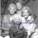 THE GOLDEN GIRLS CAST SIGNED AUTOGRAPHED PHOTO RUE McCLANAHAN ARTHUR BETTY WHITE ESTELLE