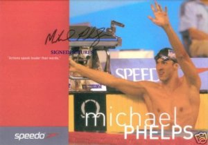 MICHAEL PHELPS SIGNED AUTOGRAPHED RP PHOTO OLYMPIC GOLD