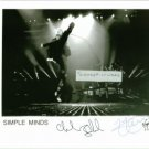 SIMPLE MINDS GROUP BAND SIGNED AUTOGRAPHED RP PHOTO