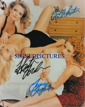 MELROSE PLACE GIRLS CAST SIGNED RP PHOTO LOCKLEAR +