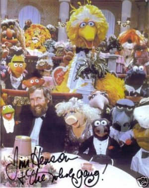 JIM HENSON AND THE MUPPETS SIGNED AUTOGRAPHED RP PHOTO