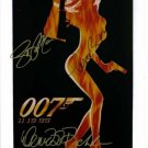JAMES BOND 007 SIGNED AUTOGRAPHED RP PHOTO PIERCE BROSNAN RICHARDS & MARCEAU