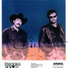 BROOKS AND DUNN SIGNED AUTOGRAPHED RP PROMO PHOTO