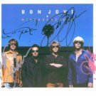 BON JOVI GROUP BAND SIGNED AUTOGRAPHED RP PHOTO JON + 3