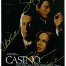 CASINO CAST SIGNED RP PHOTO ROBERT DENIRO SHARON STONE