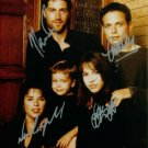 PARTY OF FIVE CAST SIGNED AUTOGRAPHED RP NEVE CAMPBELL
