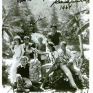 GILLIGANS ISLAND FULL CAST SIGNED AUTOGRAPHED 8x10 RP PHOTO BY 8 SS MINNOW