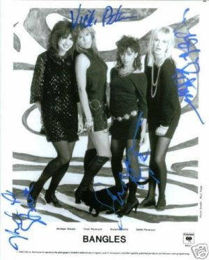 THE BANGLES GROUP SIGNED RP PROMO PHOTO WALK EGYPTIAN