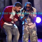 LIL WAYNE AND DRAKE SIGNED AUTOGRAPHED 8x10 RP PHOTO THE MOTTO AWESOME RAP