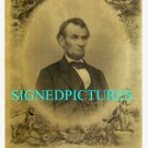 ABRAHAM LINCOLN SIGNED AUTOGRAPHED OLD PORTRAIT PRINT