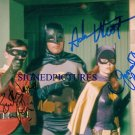BATMAN ROBIN AND BATGIRL SIGNED RP PHOTO ADAM WEST BURT WARD & CRAIG