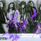 SKID ROW BAND GROUP SIGNED RP PHOTO SEBASTIAN BACH +