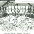 NC TAR HEELS 99-2000 BASKETBALL TEAM SIGNED RP PHOTO