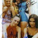 THE SPICE GIRLS SIGNED AUTOGRAPHED 8X10 RP PHOTO EMMA GERI MEL VICTORIA SPORTY+