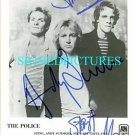 THE POLICE SIGNED AUTOGRAPHED RP PHOTO STING COPELAND +