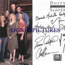 BUFFY THE VAMPIRE SLAYER FULL CAST SIGNED AUTOGRAPHED 6X9 RP PHOTO