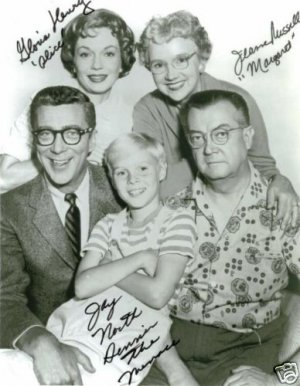 DENNIS THE MENACE CAST SIGNED RP PHOTO BY 3 JAY NORTH +