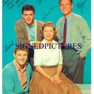 OZZIE AND HARRIET FULLCAST SIGNED RP PHOTO DAVID NELSON
